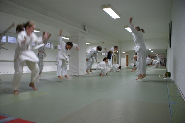 Undervisining i aikido-hopp